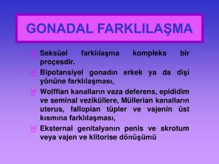 GONADAL FARKLILAŞMA