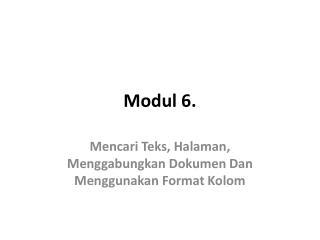 Modul  6.