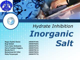 Hydrate Inhibition InorganicSalt