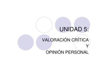 UNIDAD 5:
