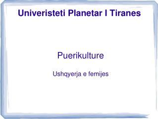 Univeristeti Planetar I Tiranes