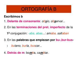 ORTOGRAFÍA B
