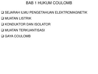 BAB 1 HUKUM COULOMB
