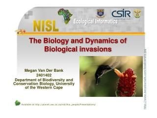 The Biology and Dynamics of Biological invasions