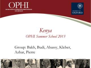 Kenya OPHI Summer  School  2013