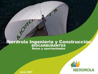 Iberdrola Ingeniería y Construcción BIOCARBURANTES Retos y oportunidades