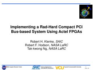 Implementing a Rad-Hard Compact PCI Bus-based System Using Actel FPGAs
