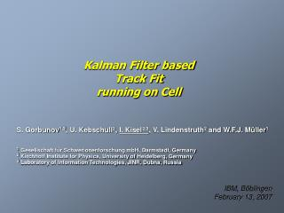 Kalman Filter based Track Fit running on Cell