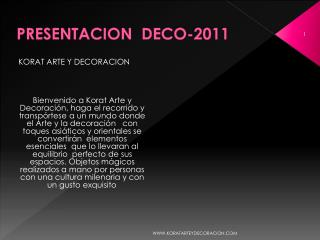 PRESENTACION   DECO-2011