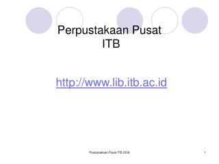Perpustakaan Pusat  ITB