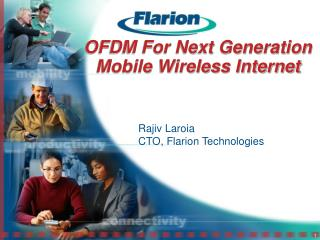 OFDM For Next Generation Mobile Wireless Internet