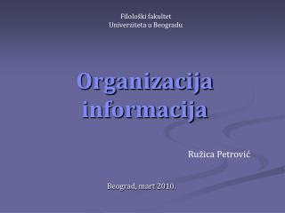 Organizacija informacija