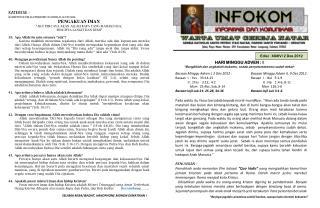 Edisi :  XXXIV/ 2 Des 2012
