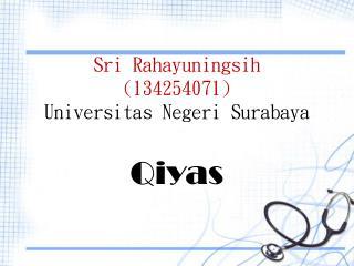Sri  Rahayuningsih (134254071) Universitas Negeri  Surabaya