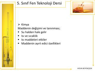 5. Sınıf Fen Teknoloji Dersi