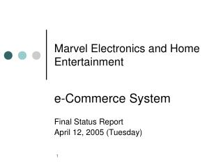 Marvel Electronics and Home Entertainment
