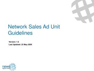 Network Sales Ad Unit Guidelines