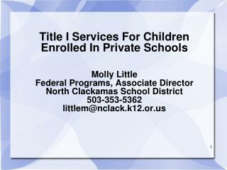 What is Title IA?