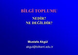 Mustafa A kgül