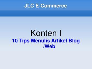JLC E-Commerce
