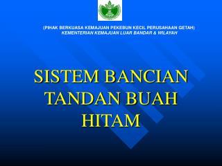 SISTEM BANCIAN TANDAN BUAH HITAM