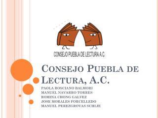 Consejo Puebla de Lectura, A.C .
