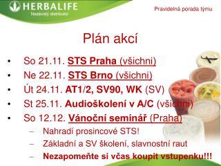 Plán akcí