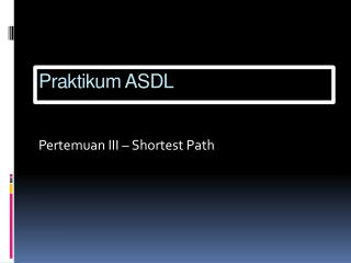 Praktikum ASDL