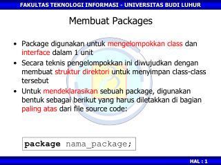 Membuat Packages