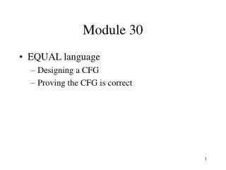 Module 30