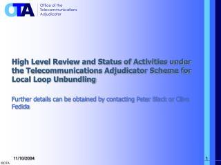 Local Loop Unbundling