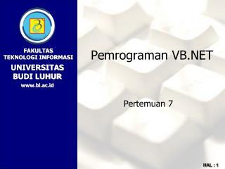 Pemrograman VB.NET