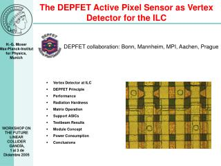 The DEPFET Active Pixel Sensor as Vertex Detector for the ILC