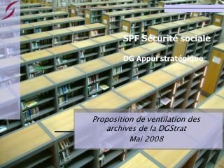 SPF Sécurité sociale DG Appui stratégique