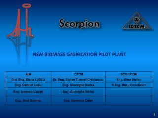 NEW BIOMASS GASIFICATION PILOT PLANT