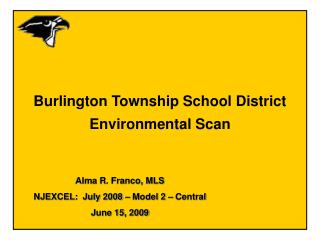 Burlington Township School District Environmental Scan