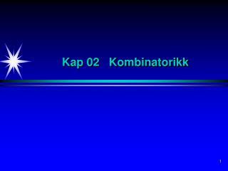 Kap 02   Kombinatorikk