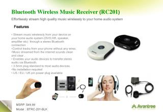 Bluetooth Wireless Music Receiver ( RC201 )