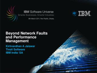 Beyond Network Faults and Performance Management