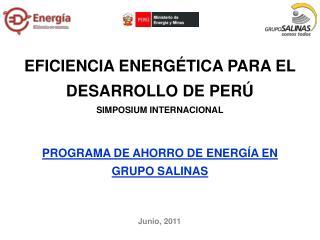 EFICIENCIA ENERGÉTICA PARA EL DESARROLLO DE PERÚ SIMPOSIUM INTERNACIONAL