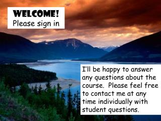 Welcome! Please sign in