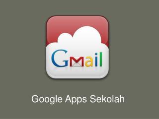 Google Apps Sekolah