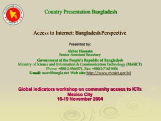 Country Presentation Bangladesh