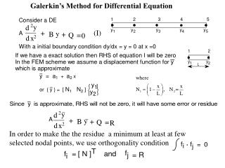 Galerkin's Method for Differential Equation
