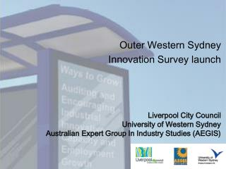 Outer Western Sydney  Innovation Survey launch
