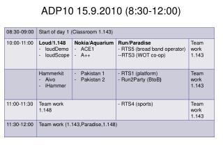 ADP10 15.9.2010 (8:30-12:00)