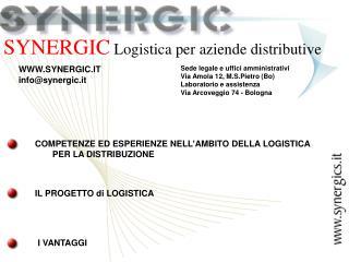 SYNERGIC  Logistica per aziende distributive