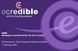 NMM Meeting in Carlton Hotel Tel Aviv, Israel