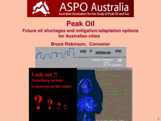 Peak Oil Future oil shortages and mitigation/adaptation options for Australian cities