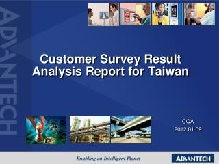 Customer Survey Result Analysis Report for Taiwan